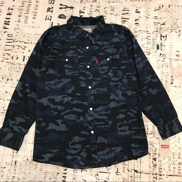 Levi's Other - LEVI'S Boys Camo Pearl Snap Button Shirt Western